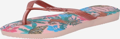 HAVAIANAS Žabky - nebeská modř / zelená / růžová, Produkt