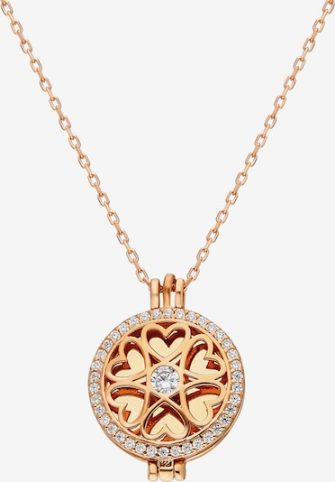 Dkeniz Silberkette 'Medallion' aufklappbare Kette Rose in rosegold / pink / rosa / rosé / altrosa, Produktansicht