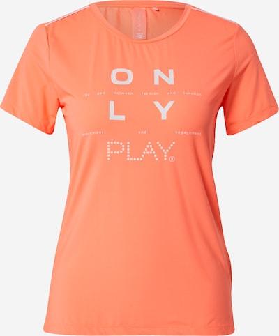 ONLY PLAY Sporta krekls 'MUHAN', krāsa - koraļļu / balts, Preces skats