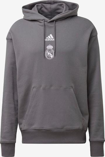 ADIDAS PERFORMANCE Sweatshirt 'Real Madrid' in rauchgrau / weiß, Produktansicht