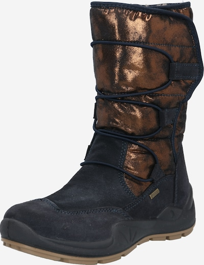 Auliniai batai su kulniuku iš PRIMIGI , spalva - nakties mėlyna / bronzinė, Prekių apžvalga