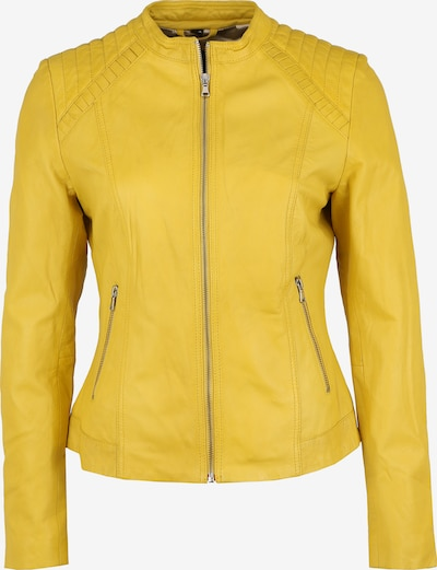 KRISS Lederjacke in gelb / zitronengelb, Produktansicht