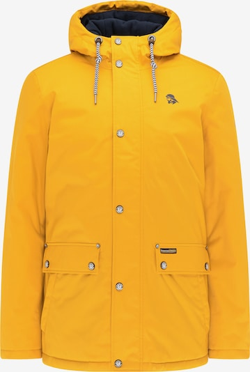 Schmuddelwedda Winterjas in de kleur Navy / Curry, Productweergave