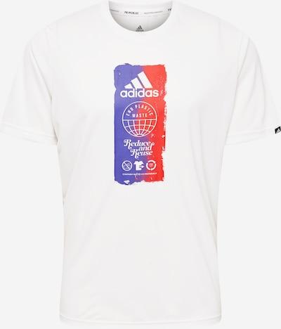 ADIDAS PERFORMANCE Toiminnallinen paita värissä tummanvioletti / tulenpunainen / valkoinen, Tuotenäkymä