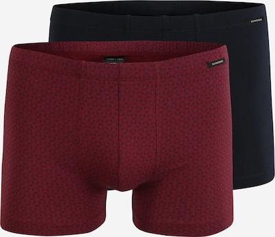 SCHIESSER Boxershorts in rot / schwarz, Produktansicht