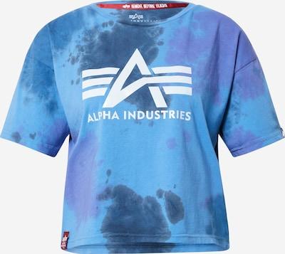 ALPHA INDUSTRIES Shirt in Marine / Smoke blue / White, Item view