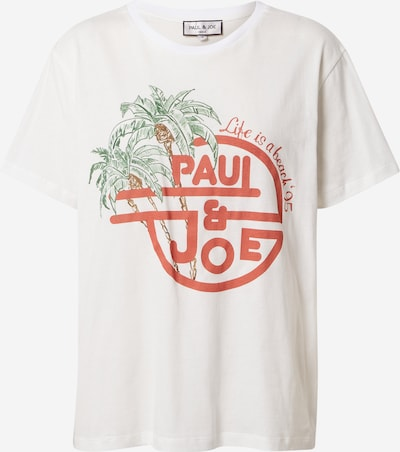 PAUL & JOE Shirt 'TAMBOURIN' in de kleur Groen / Pastelrood / Wit, Productweergave