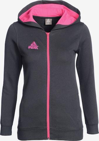 PEAK Athletic Zip-Up Hoodie in Grey