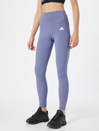 Pantaloni sport ADIDAS PERFORMANCE pe mov liliachiu / alb, Vizualizare model