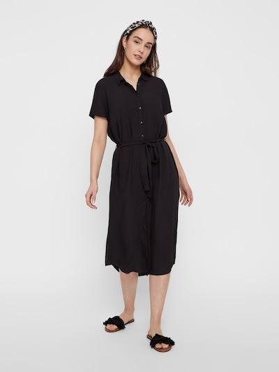 PIECES Robe 'PCCECILIE' en noir, Vue avec modèle
