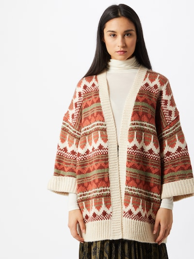 BILLABONG Manteau en tricot 'Wintersounds' en mélange de couleurs / rouge, Vue avec modèle