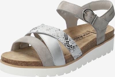 MOBILSergonomic Sandale 'Thina' in grau / silbergrau / hellgrau / silber, Produktansicht