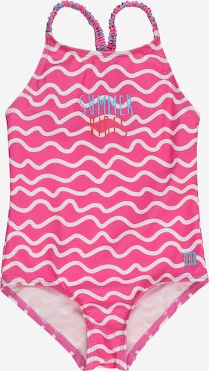 SCHIESSER Badeanzug in blau / dunkelorange / pink / hellpink, Produktansicht