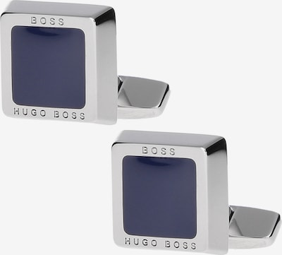 BOSS Casual Manchetknopen 'Franzisko' in de kleur Blauw / Zilver, Productweergave