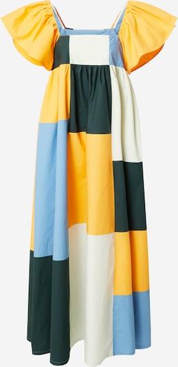 Résumé Dress 'Farez' in Beige / Light blue / Saffron / Fir, Item view