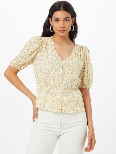 Rut & Circle Bluse 'CAMILLE' in gelb / weiß, Modelansicht