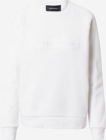 balta PEAK PERFORMANCE Sportinio tipo megztinis