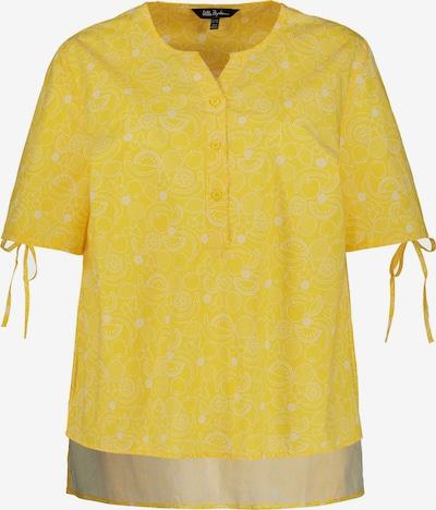 Ulla Popken Blouse in de kleur Geel / Wit, Productweergave