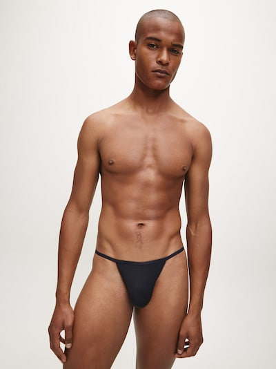 Calvin Klein Underwear 2er-Pack Strings  'CK ONE ' in schwarz, Modelansicht