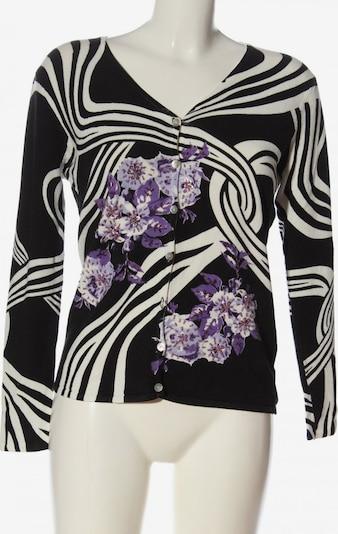 IMAGINI Strick Cardigan in M in lila / schwarz / weiß, Produktansicht