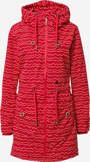 Alife and Kickin Tussenparka 'Charlotte' in de kleur Vuurrood / Zwart / Wit, Productweergave