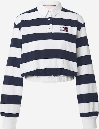 Tommy Jeans Тениска в нейви синьо / бяло: Изглед отпред