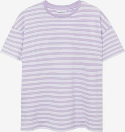 Tricou MANGO TEEN COLLECTION pe lila / alb, Vizualizare produs