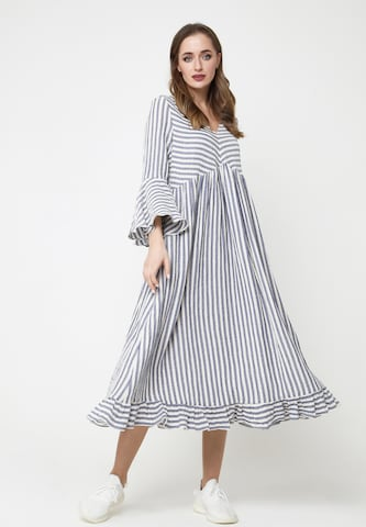 Madam-T Sommerkleid 'RAFFAELA' in Weiß