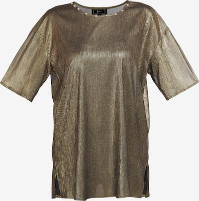Tricou faina pe auriu / negru, Vizualizare produs