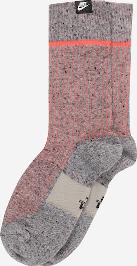 Nike Sportswear Къси чорапи в сив меланж / корал: Изглед отпред