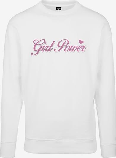 Merchcode Sweatshirt in de kleur Rosa / Wit: Vooraanzicht