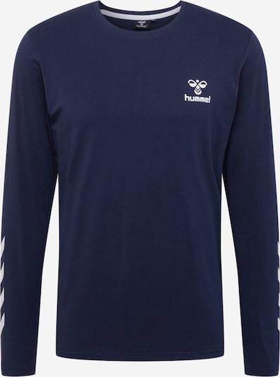 Hummel T-Shirt fonctionnel en bleu foncé / blanc, Vue avec produit