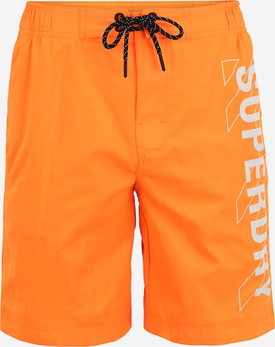 Superdry Boardshorts in hellgrau / orange, Produktansicht