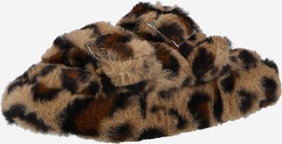NEW LOOK Papuče 'NUCKLE' u svijetlobež / tamno smeđa / crna, Pregled proizvoda
