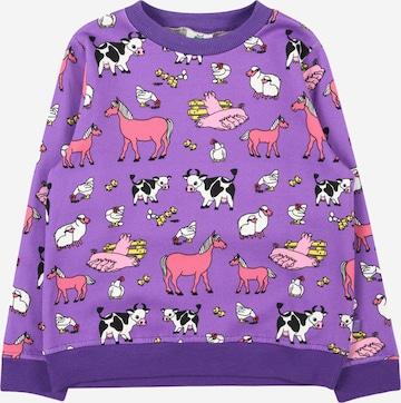 Sweat-shirt Småfolk en violet