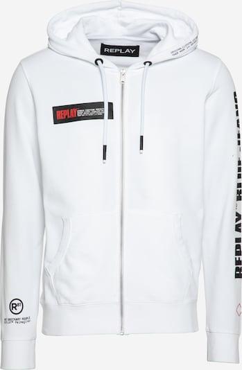 REPLAY Bluza rozpinana w kolorze czarny / białym, Podgląd produktu