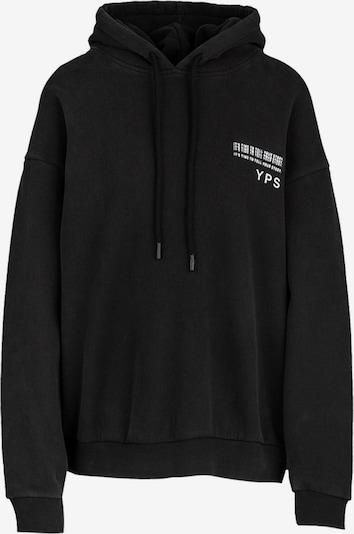 Young Poets Society Sweatshirt 'Evolve Jola' in schwarz / weiß, Produktansicht