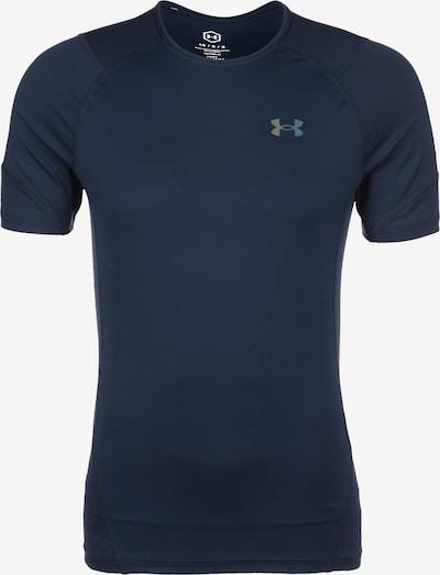 UNDER ARMOUR T-Shirt fonctionnel 'Rush HeatGear 2.0' en bleu nuit / blanc, Vue avec produit