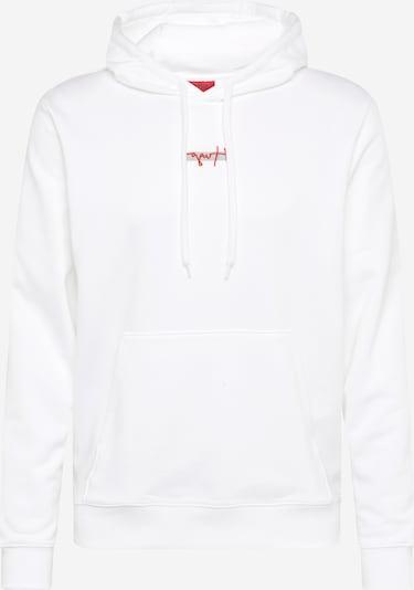 HUGO Sweater majica 'Doley' u svijetlosiva / crvena / bijela, Pregled proizvoda