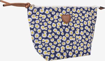 Six Make up tas in de kleur Donkerblauw / Bruin / Geel / Offwhite, Productweergave