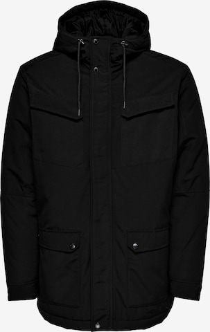 Only & Sons Winter parka 'Cooper' in Black