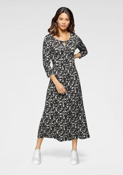 LAURA SCOTT Jerseykleid in grau / anthrazit / hellgrau / weiß, Modelansicht