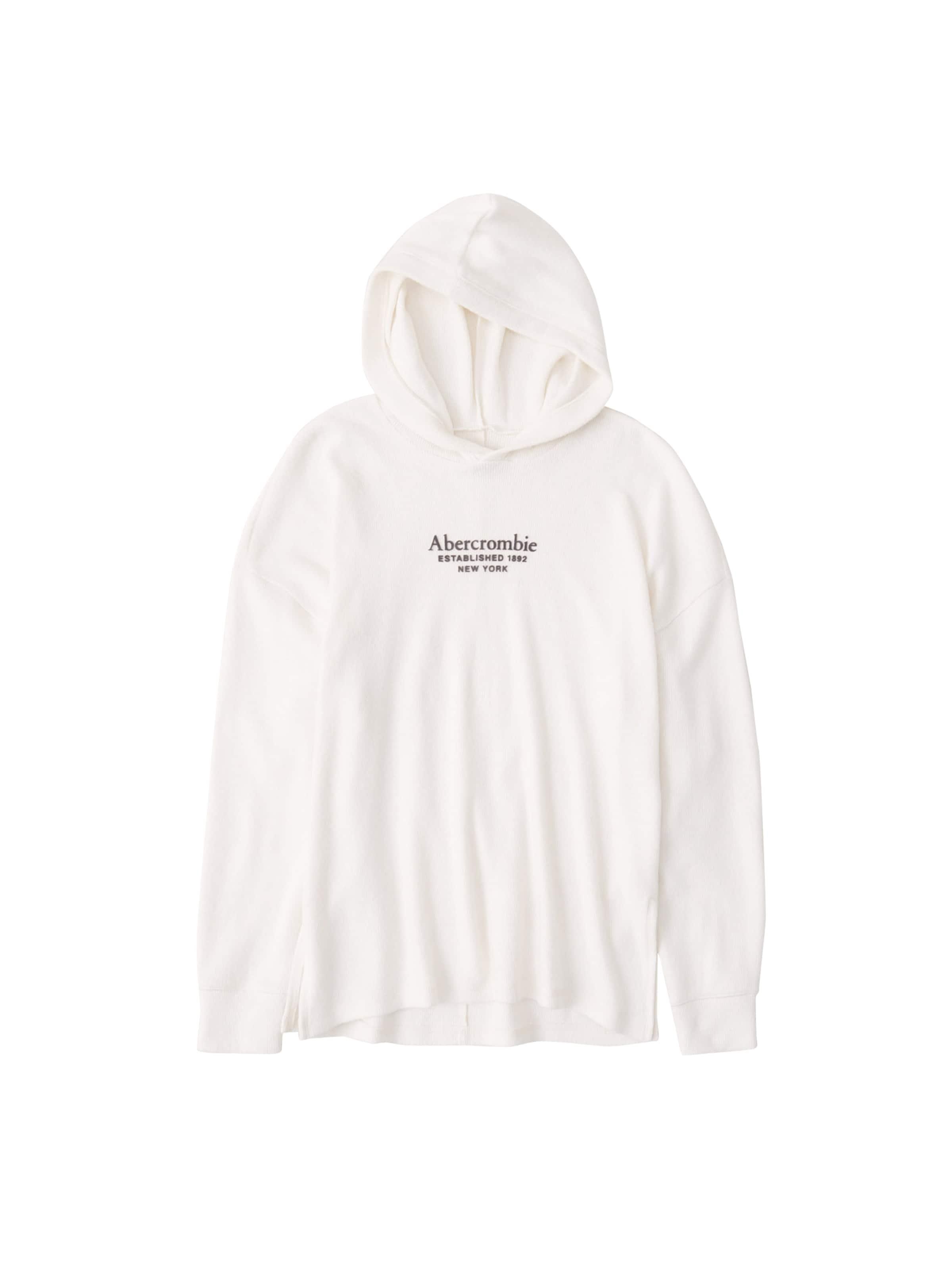 Abercrombie & Fitch Sweatshirt i vit