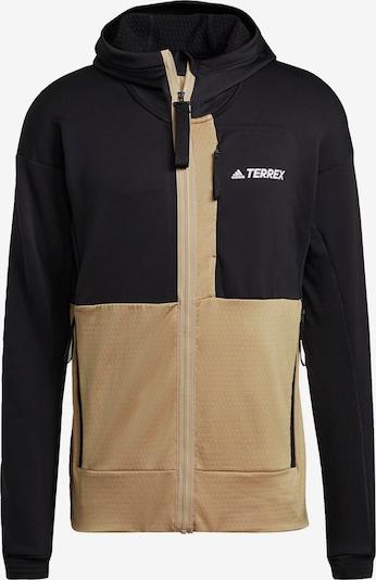 adidas Terrex Fleecejacke 'Terrex' in beige / schwarz / weiß, Produktansicht