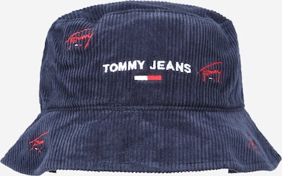 Tommy Jeans Chapeaux 'TJW SPORT BUCKET CORDUROY' en bleu foncé / rouge / blanc, Vue avec produit