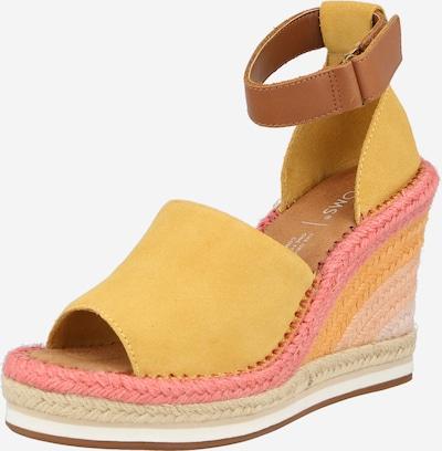 Sandale 'MARISOL' TOMS pe maro caramel / galben / roz deschis, Vizualizare produs