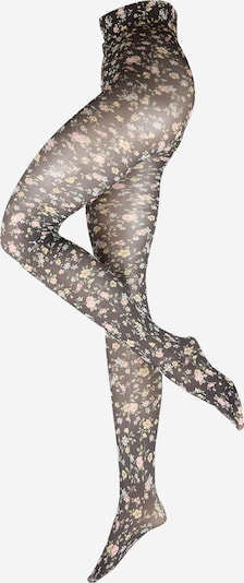 Swedish Stockings Collant 'Ada' en jaune pastel / vert pastel / rose / noir, Vue avec produit