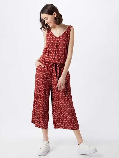 Ragwear Combinaison 'SUKY CHEVRON' en rouge / blanc, Vue avec modèle