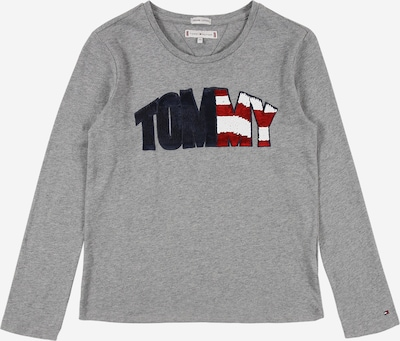 TOMMY HILFIGER Shirt 'Sequins' in grau: Frontalansicht