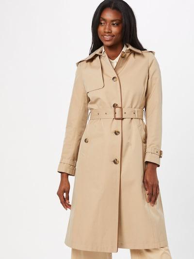 Demisezoninis paltas iš Lauren Ralph Lauren, spalva – smėlio spalva, Modelio vaizdas
